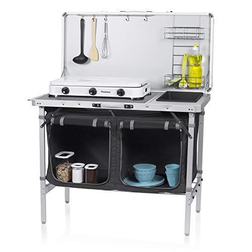 CAMPART Outdoor Küche Granada Campingküche, White/Black, 100 x 50 x...