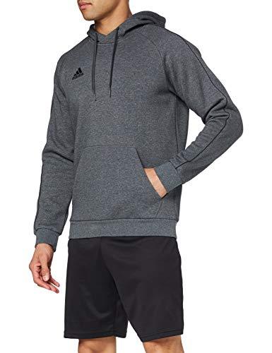 adidas Herren CORE18 Hoody Sweatshirt, Dark Grey Heather/Black, M