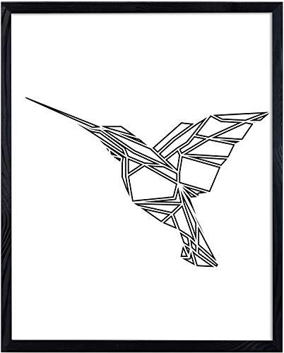 Postergaleria Bilderrahmen | 50x70 | Schwarz | Holz | Plexiglas | 8...