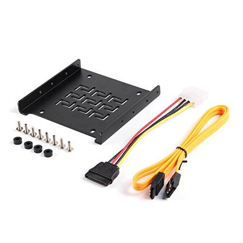 Salcar Einbaurahmen für 2,5 Festplatten/SSD auf 3,5 Adapter...