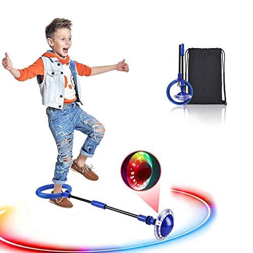 Swing Wheel mit Lichtrad, Kinder Blinkender Springring Fußkreisel,...