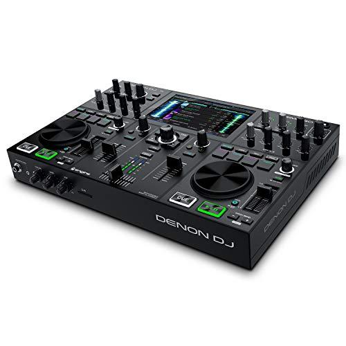 Denon DJ PRIME GO – Tragbares DJ Set/Smart DJ-Konsole mit 2 Decks,...