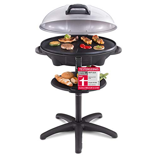 Cloer 6789 Barbecue-Grill, Standgrill mit integriertem Thermometer,...