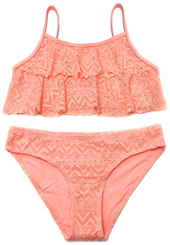 SHEKINI Mädchen Zweiteiler Bikini Badeanzug Teenager Bademode Spitze...