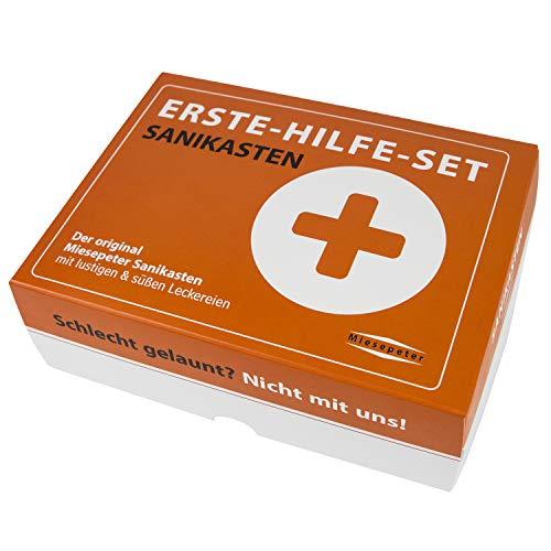 Miesepeter® Sanikasten   ERSTE-HILFE- SET Geschenk-Box, witziges...