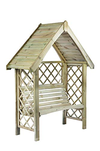 G&C Oxford – Gartenpergola aus Holz mit Bank für 2 Personen –...
