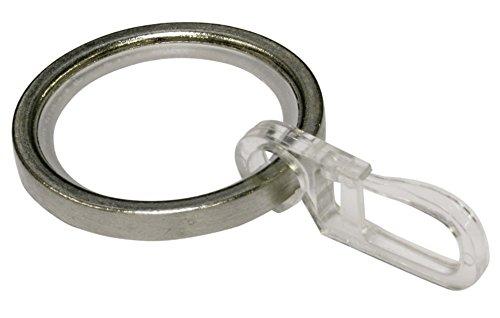 GARDINIA Gardinenringe für Gardinenstangen mit 20 mm Durchmesser,...
