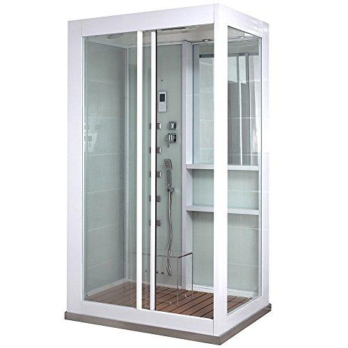 Home Deluxe - Duschkabine - White Luxory XL - Maße: 120 x 90 x 220 cm...