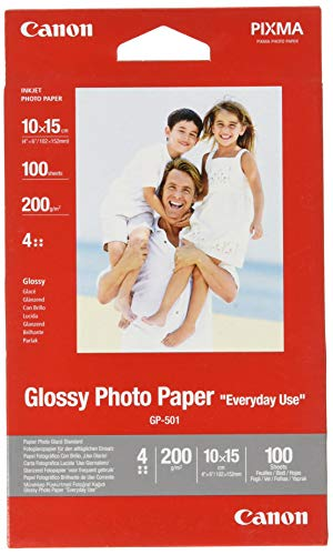 Canon Fotopapier GP-501 glänzend weiß - 10x15cm 100 Blatt für...