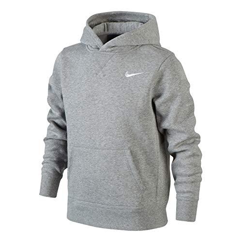 Nike Jungen Kapuzenpullover Brushed Fleece, dk grey heather/white, L ,...