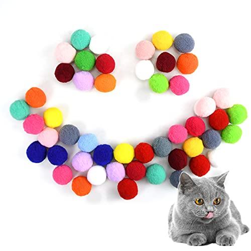 50 Stück Katze Bälle, Katzen Spielzeug, Katzen Spielzeug Ball 3 cm,...