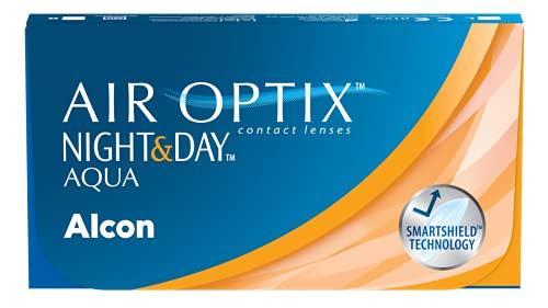 Air Optix Night & Day Aqua Monatslinsen weich, 6 Stück / BC 8.6 mm /...