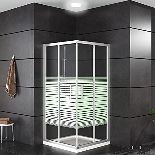 Oimex OT Eckeinstieg Duschkabine ohne Tasse 80x80 oder 90x90, 180 cm...
