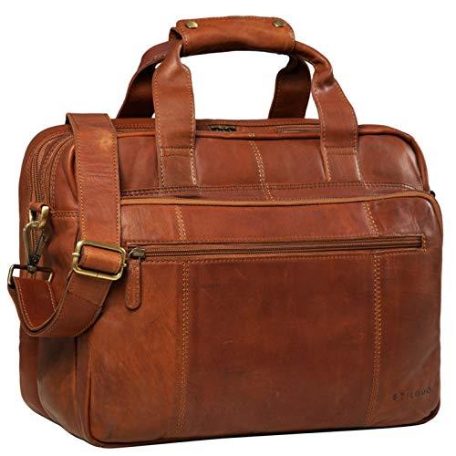 STILORD 'Experience' Vintage Lehrertasche Leder groß für Herren...