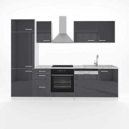 Vicco Küche Optima 270 cm Küchenzeile Küchenblock Einbauküche...