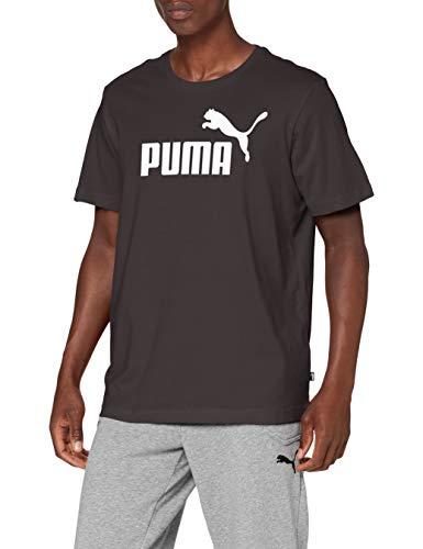 PUMA Herren ESS Logo Tee T-shirt, Cotton Black, L