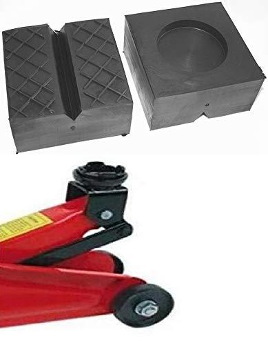 100x100x50mm mit V-Nut/Waffel/Aussparung Gummiauflage Gummi-Unterlage...