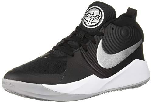 Nike Team Hustle D 9 (GS) Basketballschuhe, Mehrfarbig (Black/Metallic...