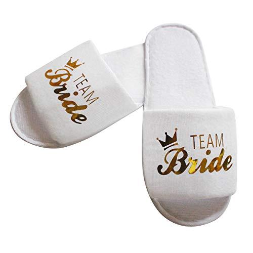 Tabpole 10 Paar Spa-Hausschuhe für Braut, Team Hotel Hochzeit,...