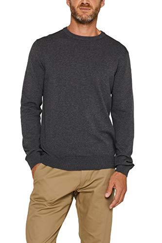 ESPRIT Herren Classic Rundhals Pullover, 040/GREY Melange, L