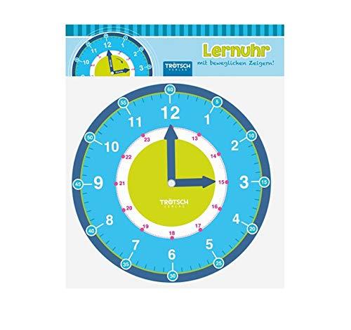 Trötsch Lernuhr mit beweglchen Zeigern: Lernspiel Uhr lernen (Lernuhr...
