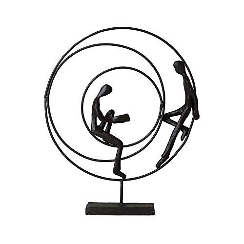 Casablanca - Skulptur, Design Figur - Circles - Höhe: 23 cm - Eisen...