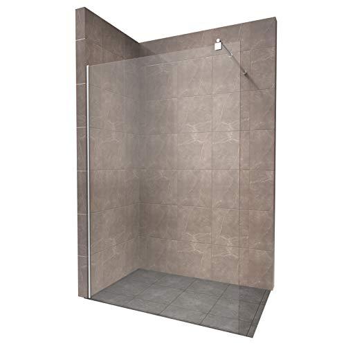 Duschabtrennung Duschwand Walk In Dusche 10mm STARK aus DURCHSICHTIGEM...