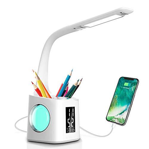 Schreibtischlampe LED, Schreibtischlampe Led 10W Dimmbar, Stifthalter...