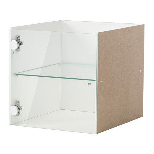 IKEA KALLAX Vitrinentüreinsatz weiß; (33x33cm); Kompatibel mit...