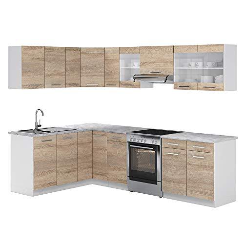 Vicco Küche Rick Eck/Winkel-Küchenzeile Küchenblock Einbauküche...