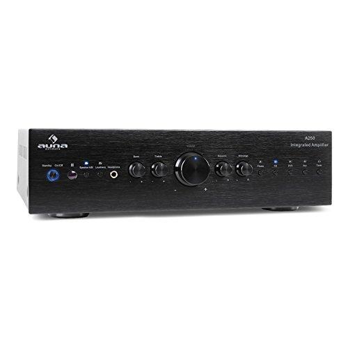 auna AV2-CD708 - Stereo HiFi Heimkino, Audio-Verstärker, 125 Watt RMS...