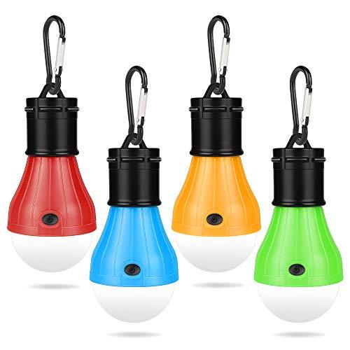 Molbory Camping LED Campinglampe mit Karabiner Camping Lantern 4...