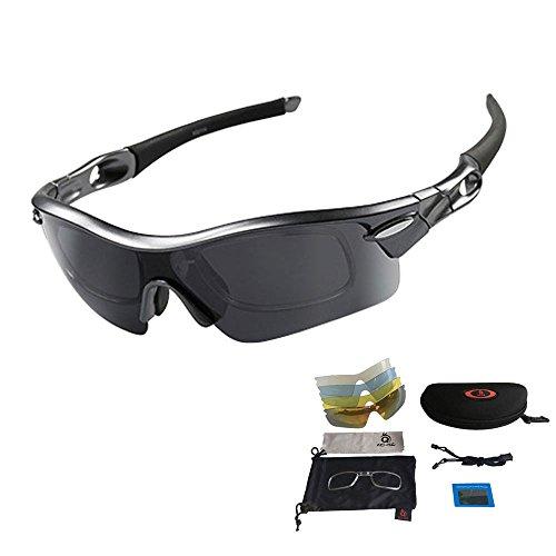 V VILISUN Sport Sonnenbrille Fahrradbrille Sportbrille mit UV400 5...