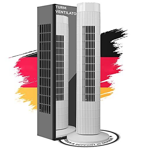 Turmventilator Säulenventilator leise 3 Stärke Stufen Ventilator...