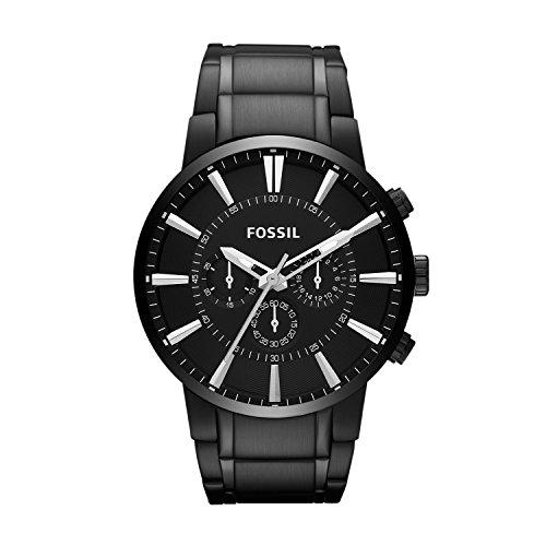 Fossil Herren Chronograph Quarz Uhr mit Edelstahl Armband FS4778