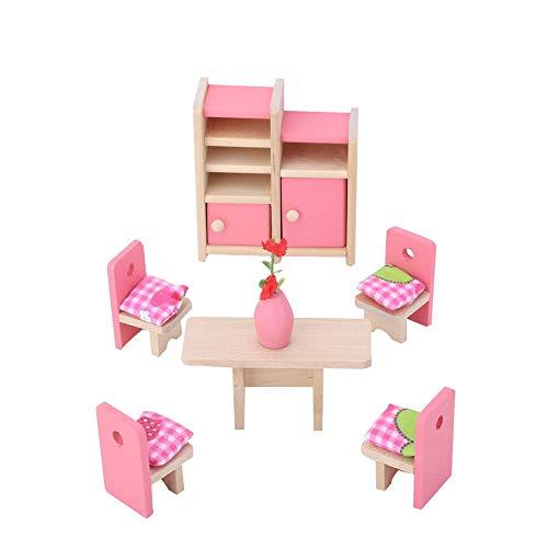Zerodis 1:12 Mini Puppenhaus Möbel Sets Holz Miniatur Möbel Pretend...