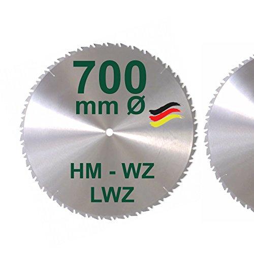 HM Sägeblatt 700 x 30 mm LWZ Hartmetall Präzision Kreissägeblatt...