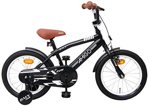Amigo BMX Fun - Kinderfahrrad für Jungen - 16 Zoll - mit Handbremse,...