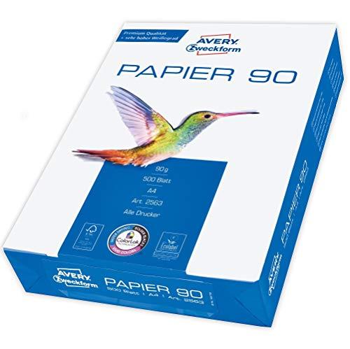 Avery Zweckform 2563 Drucker-/Kopierpapier (500 Blatt, 90 g/m², DIN...
