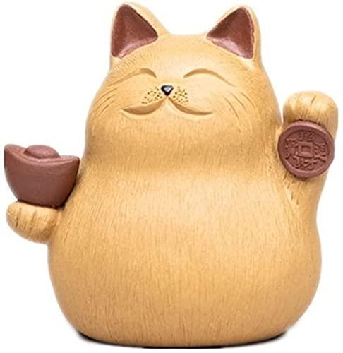 WQQLQX Statue Tee Haustier Glück Katze Ornamente Handgemachte...