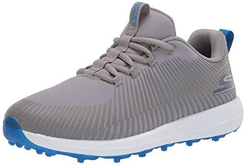 Skechers GO Golf Herren Max Golfschuh, Grau/Blau Bolt, 42 EU