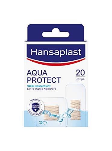 Hansaplast Aqua Protect Pflaster (20 Strips), wasserfeste Wundpflaster...