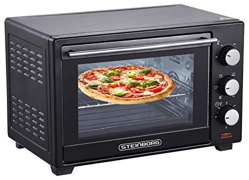 Mini Backofen 25 Liter | Pizza-Ofen | 3in1 Backofen | Minibackofen |...