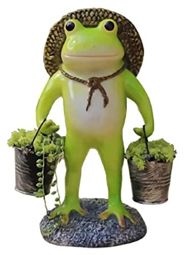 WQQLQX Statue Stehende Frosch Blumentopf Ornamente Harz Garten...