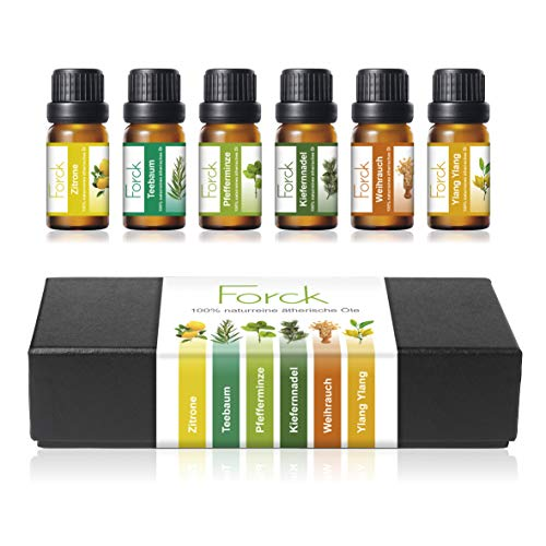 FORCK Ätherische Öle Set, 100% Pur & Naturreines Aromatheraphie...