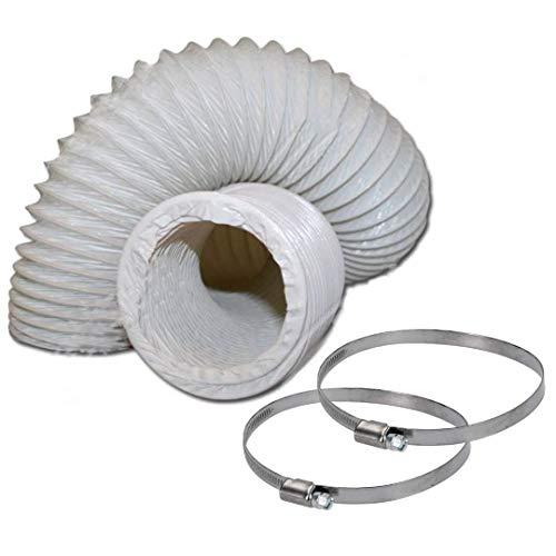 DL-pro Abluftschlauch Ø 100 / 102mm 2,5m flexibel PVC Schlauch für...