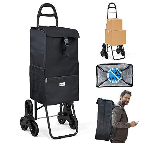 VOUNOT Einkaufstrolley Treppensteiger mit Kühlfach, Einkaufswagen...