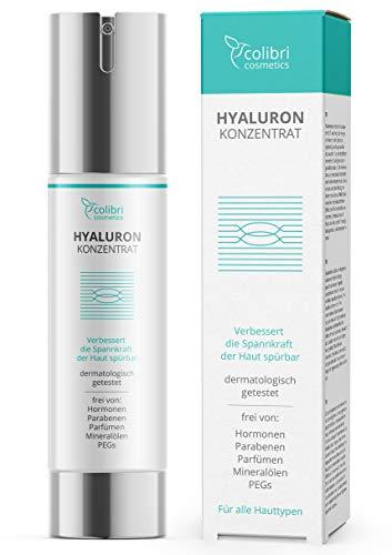 Hyaluronsäure Serum hochdosiert - Natürliche Hyaluron Anti-Aging...