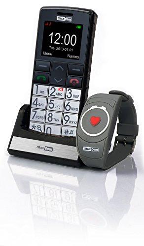 Maxcom MM 715 Großtasten Handy mit Notrufarmband (4,5 cm (1,8 Zoll)...