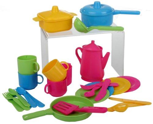 Haberkorn 30 tlg Küchenset für Spielküche Töpfe Kinderservice...